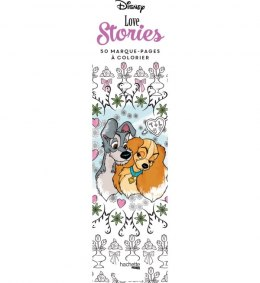 Disney Love stories. 50 marque-pages a colorier. Zakładki do kolorowania
