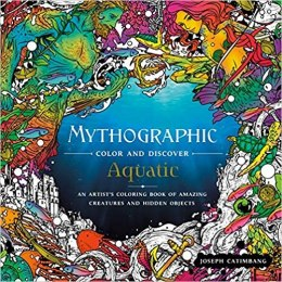 OUTLET Mythographic Color and Discover: Aquatic: An Artist's Coloring Book of Underwater Illusions and Hidden Objects